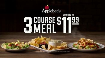 Applebee's 3 Course Meal - All meals and Prices